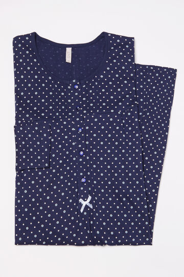 100% cotton nightshirt with polka dots