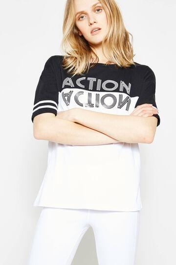 OVS Active Sport Training T-shirt, White/Black, hi-res