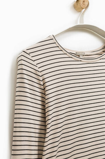 Smart Basic striped T-shirt with lace, Multicolour, hi-res