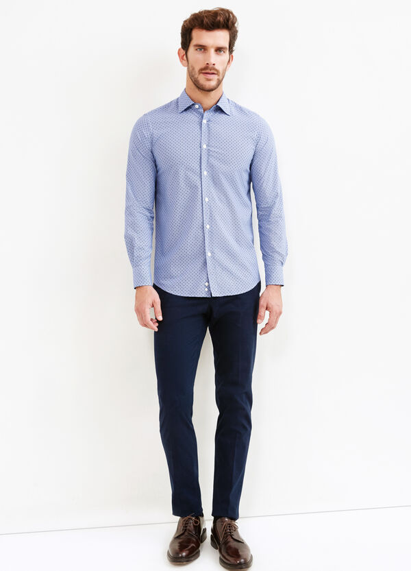 Slim-fit polka dot Rumford shirt | OVS