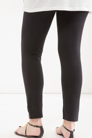 Curvy stretch leggings, Black, hi-res
