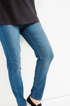 Curvy stretch cotton jeggings, Blue, hi-res