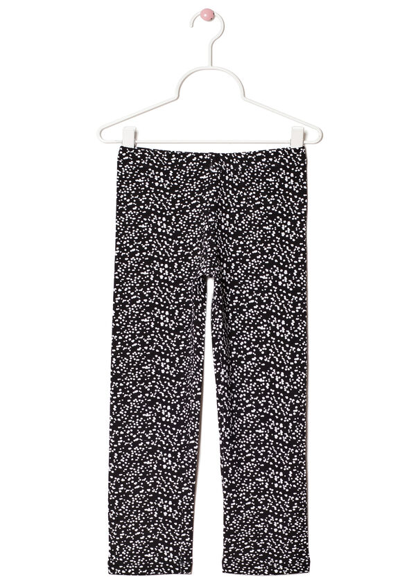 Printed leggings in stretch cotton | OVS