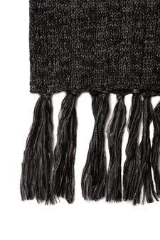 Loop scarf with fringe, Grey, hi-res