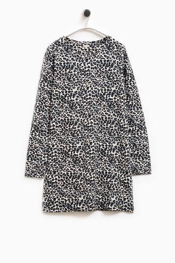 Smart Basic patterned stretch dress, Grey, hi-res