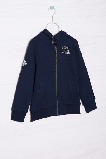 100% cotton hoodie, Navy Blue, hi-res