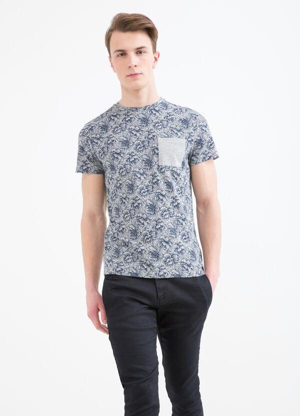 T-shirt cotone taschino con fantasia | OVS