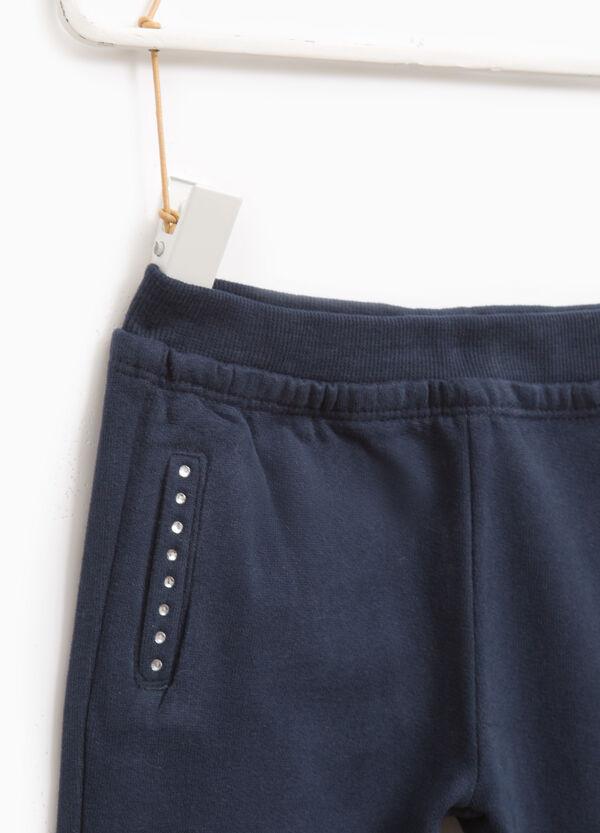 Pantaloni tuta strass bordo tasche | OVS