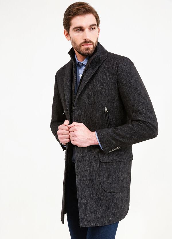 Cappotto misto lana con revers | OVS