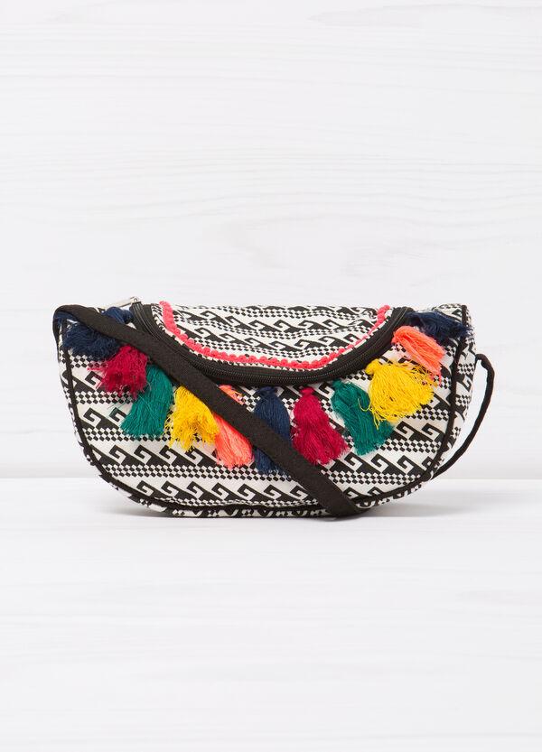 Patterned tassel shoulder bag   OVS