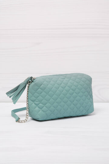 Quilted mini bag with shoulder strap, Mint Green, hi-res