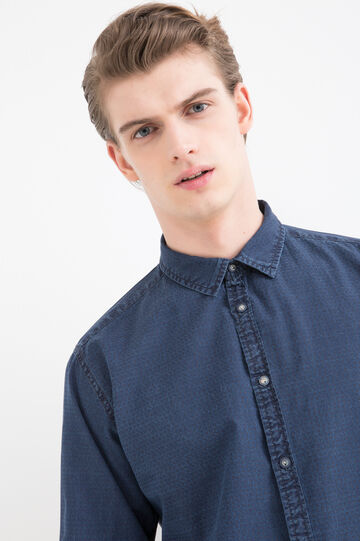 Patterned denim shirt