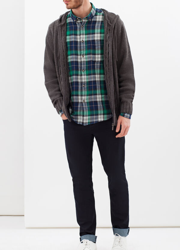 Tartan shirt in 100% cotton | OVS