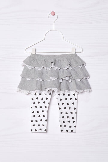 Skirt with leggings in cotton