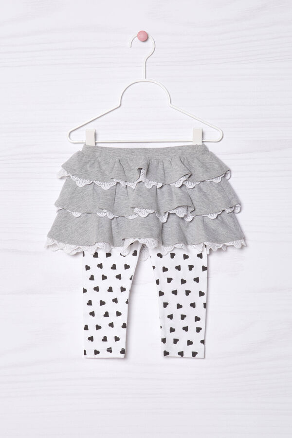Skirt with leggings in cotton | OVS