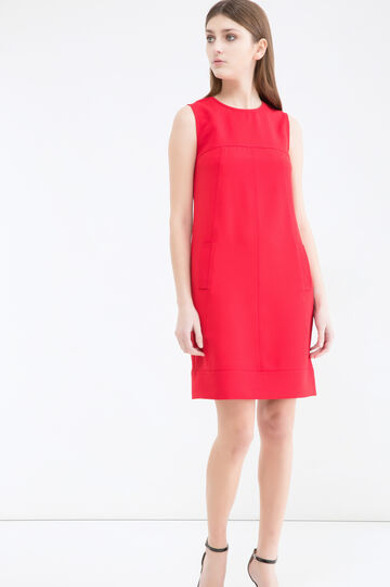 Stretch sleeveless dress, Red, hi-res