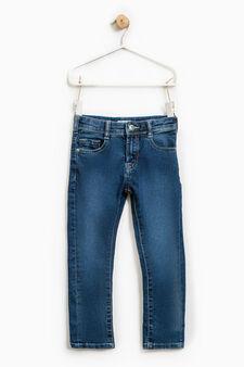 Jeans skinny fit effetto delavato, Lavaggio scuro, hi-res