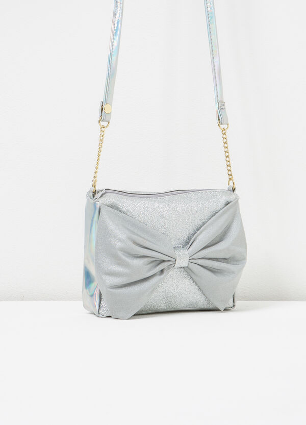 Glitter shoulder bag with bow | OVS