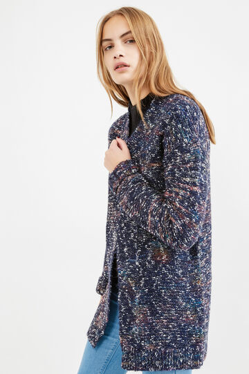 Wool and cotton blend cardigan, Blue, hi-res