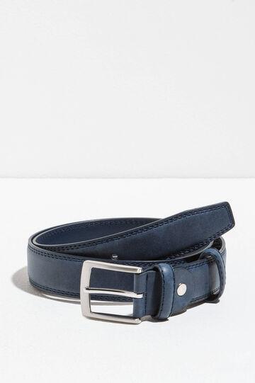 Cinturón liso con hebilla brillante