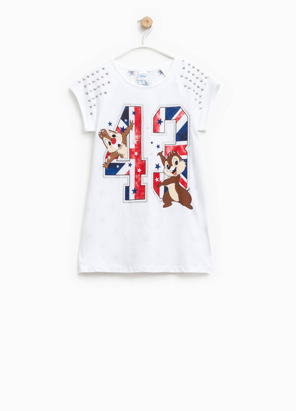 Long T-shirt with Chip 'n' Dale lace | OVS