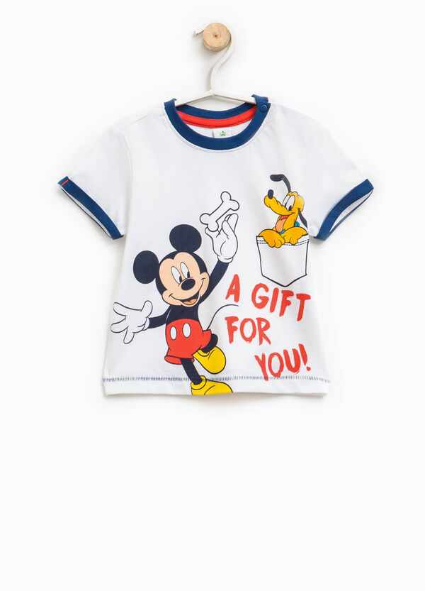 T-shirt with Mickey Mouse and Pluto print | OVS