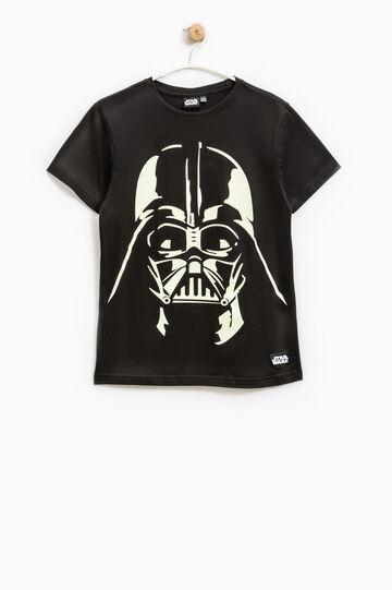 T-shirt cotone stampa Star Wars, Nero, hi-res