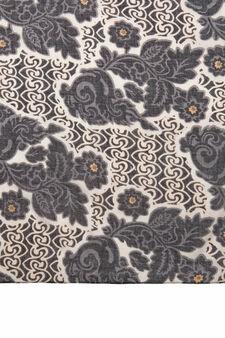 Printed scarf in 100% viscose, Black, hi-res