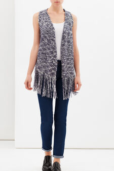 Gilet with fringe, Multicolour, hi-res
