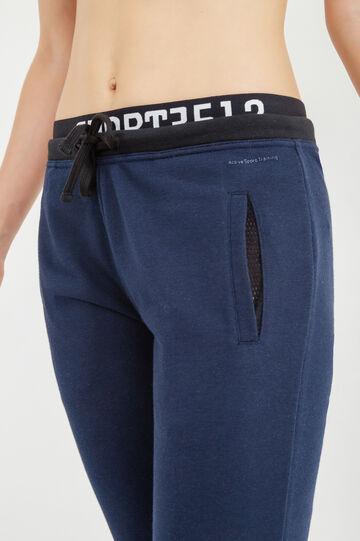 Pantaloni tuta OVS Active Sport Training, Nero/Blu, hi-res