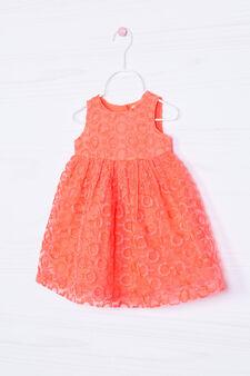 Vestitino smanicato tinta unita, Arancione, hi-res