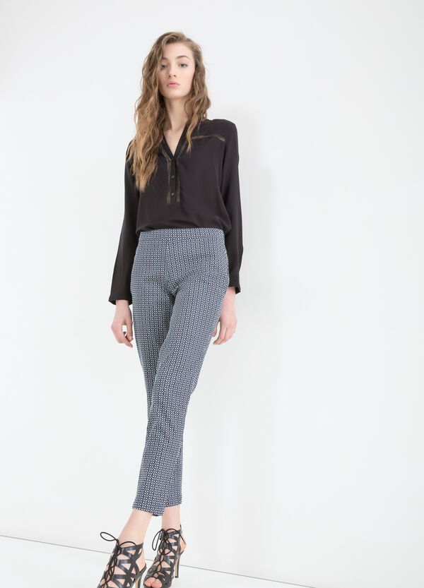 Stretch patterned trousers | OVS