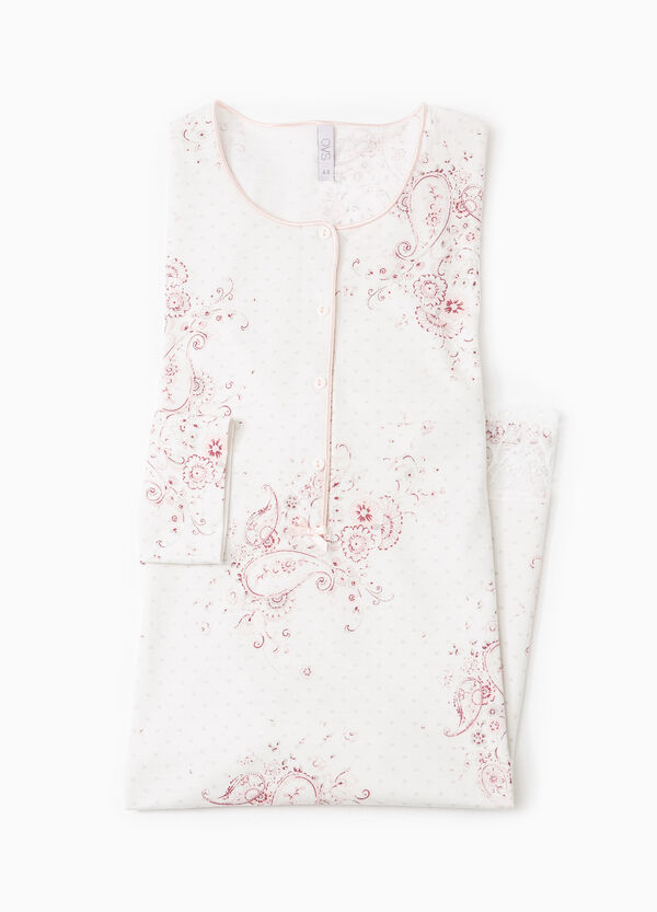 Floral nightshirt with lace | OVS