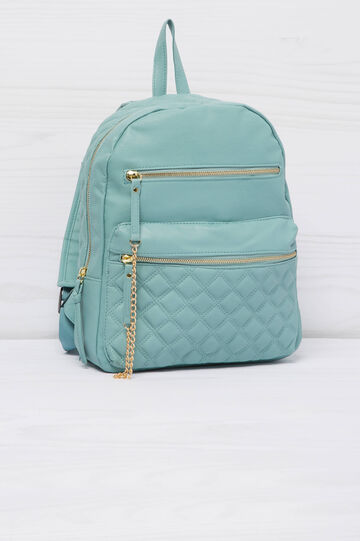 Solid colour leather look backpack, Mint Green, hi-res
