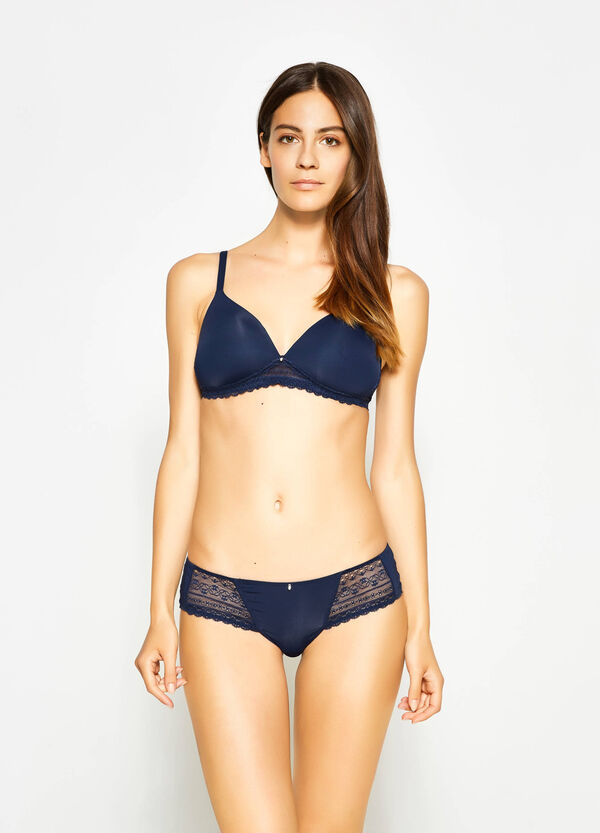 Stretch French knickers with lace | OVS