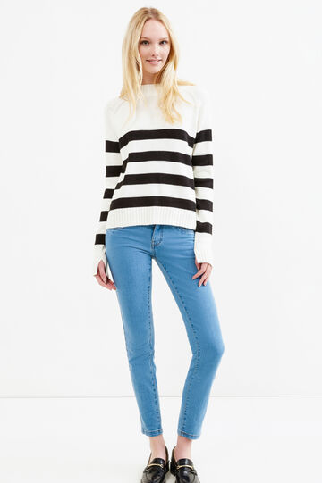 Jeans stretch skinny fit tinta unita, Blu chiaro, hi-res