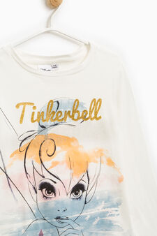 Tinkerbell T-shirt in stretch cotton, Milky White, hi-res