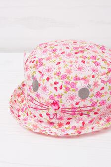 Patterned cotton fishing hat, Pink, hi-res