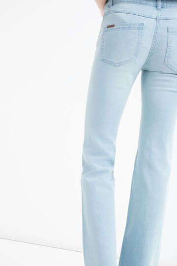 Flared-fit stretch jeans, Soft Blue, hi-res