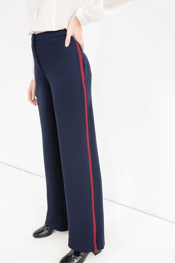 Elegant stretch trousers, Blue, hi-res