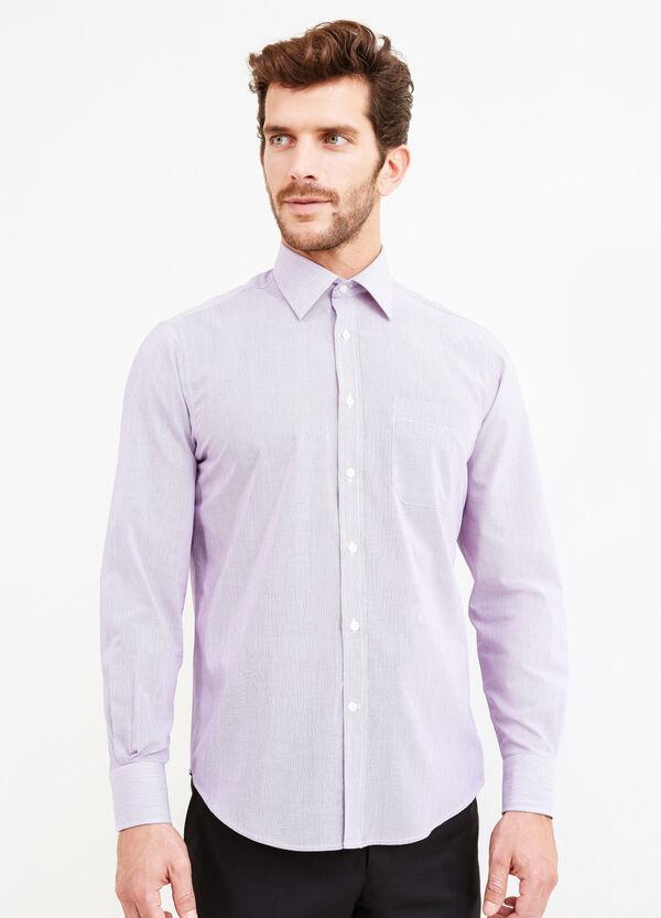 Regular-fit formal micro-striped shirt | OVS