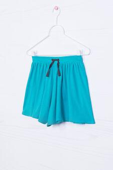 Cotton blend culottes, Green, hi-res