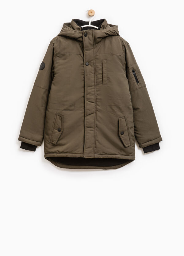 Solid colour jacket with hood | OVS
