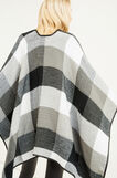 Check pattern cloak, White/Black, hi-res