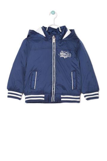 Nylon jacket with hood., White/Blue, hi-res