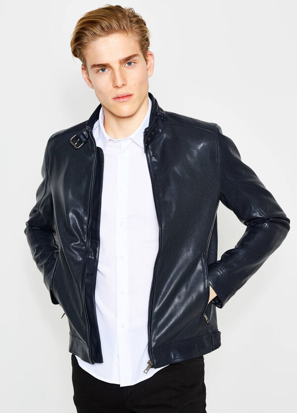 Openwork leather look jacket | OVS