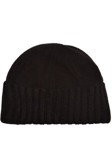 Beanie cap in fleece, Black, hi-res