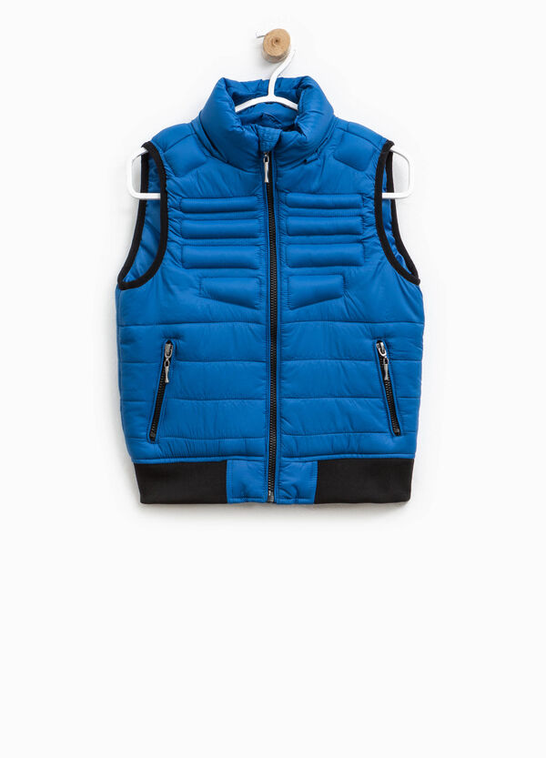 Padded gilet with contrasting edging | OVS