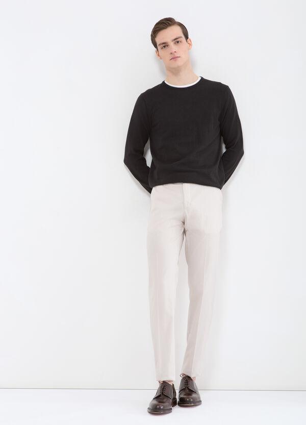 100% cotton slim fit trousers | OVS