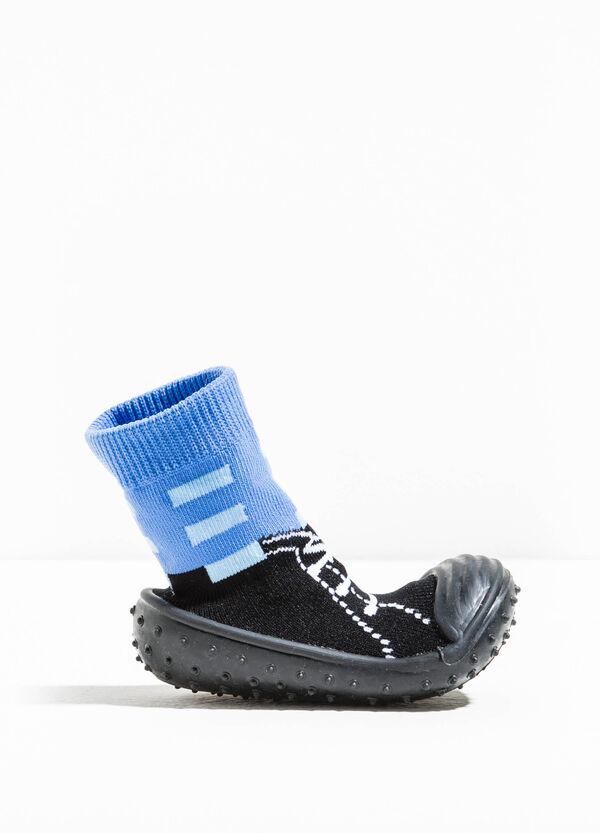 Pantofole calzino bicolore con ricami | OVS